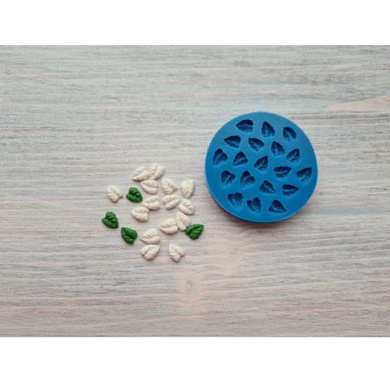 Silicone mold, small leaves, 19 leaves, ~ 0.6*0.8 cm