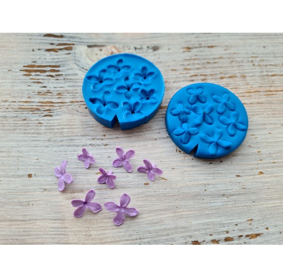 Silicone mold, lilac flowers, 7 pcs., ~ 1.1*1.9 cm