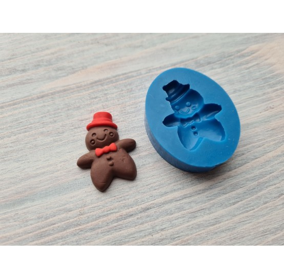 Silicone mold, gingerbread man cookie, large, ~ 2.3*3.1 cm