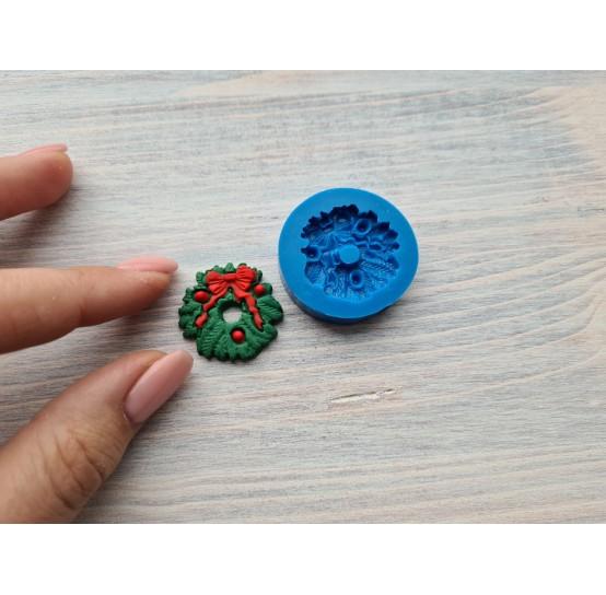 Silicone mold, Christmas wreath, ~ Ø 2.7 cm