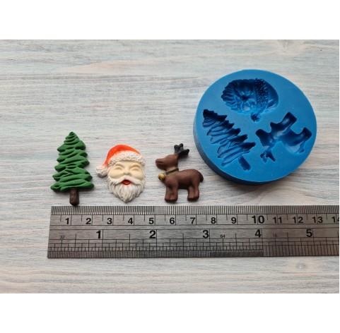 Silicone mold, Christmas set 1, 3 pcs., ~ 2.5-3.6 cm