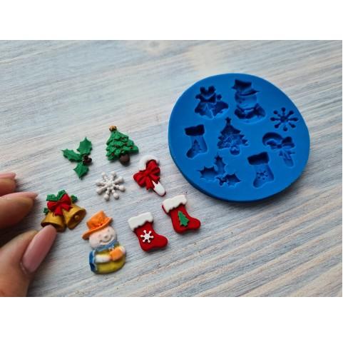 Silicone mold, Christmas set 3, ~ 1.3-2.2 cm