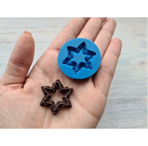 Silicone mold, cookie big star, ~ 3.2 cm