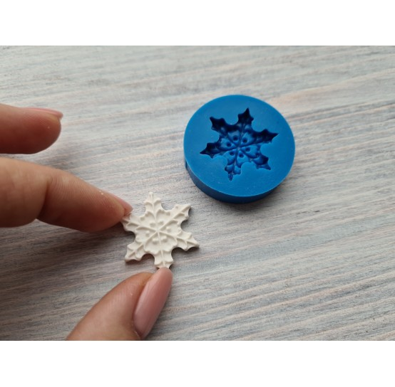 Silicone mold, snowflake 2, large, ~ 2.8 cm