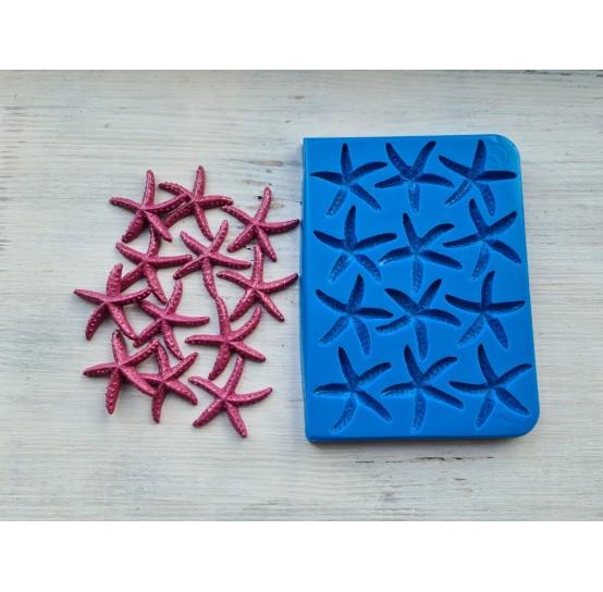 Silicone mold, starfish, asteroidea, 12 psc, ~ 4.2 cm