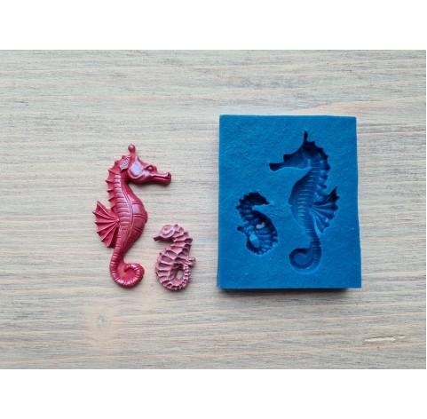 Silicone mold, sea horses, 2 pcs., ~ 2.5-5 cm