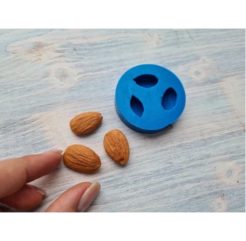 Silicone mold, almonds, 3 pcs., ~ 1.5-2.3 cm