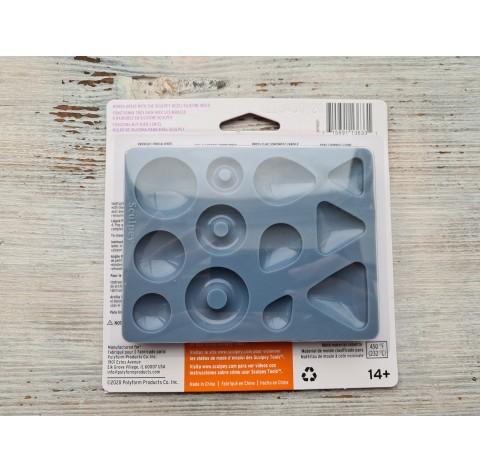 """Sculpey silicone mold for plastic, """"Cabochon"""", 1.9 cm, 2.5 cm, 3.1 cm"""