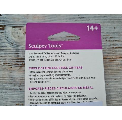 "Set of metal cutters Sculpey ""Circle"", 6 pcs., Ø 1.9-5 cm"