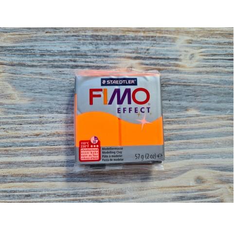 FIMO Effect Neon oven-bake polymer clay, neon orange, Nr. 401, 57 gr