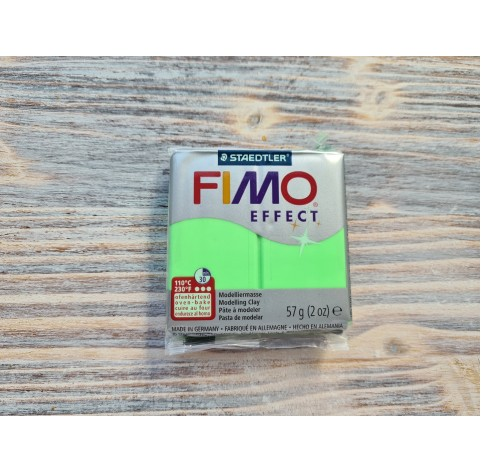 FIMO Effect Neon oven-bake polymer clay, neon green, Nr. 501, 57 gr