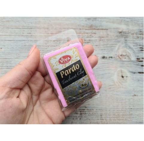 PARDO oven-bake polymer clay, pink translucent, Nr. 419, 56 gr