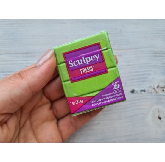 Sculpey Premo Accents oven-bake polymer clay, bright green pearl, Nr. 5035, 57 gr