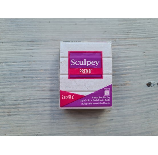 Sculpey Premo Accents oven-bake polymer clay, frost white glitter, Nr. 5057, 57 gr