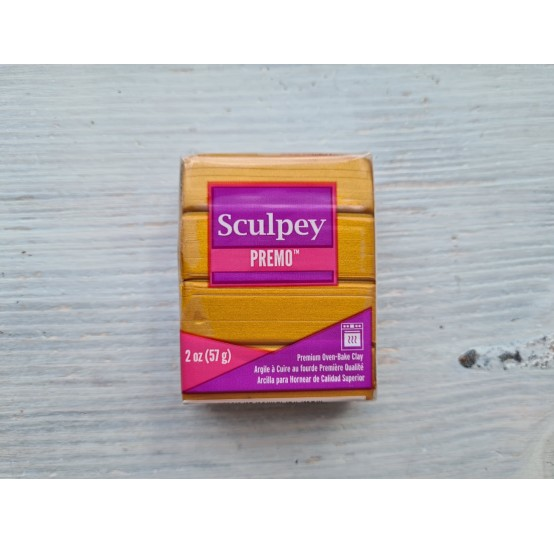 Sculpey Premo Accents oven-bake polymer clay, gold, Nr. 5303, 57 gr