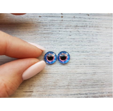 Glass eyes Blue 9, ~ Ø 1 cm