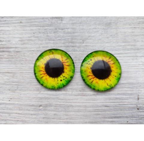 Glass eyes Green 2, ~ Ø 3 cm