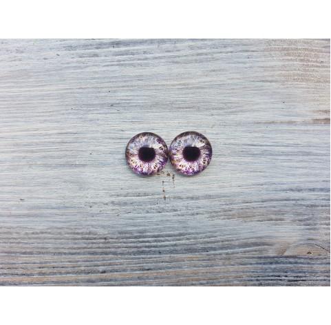 Glass eyes Violet 1, ~ Ø 1.6 cm