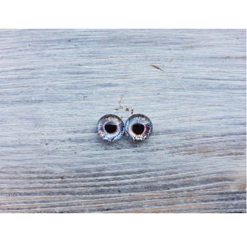 Glass eyes Blue 10, ~ Ø 0.8 cm