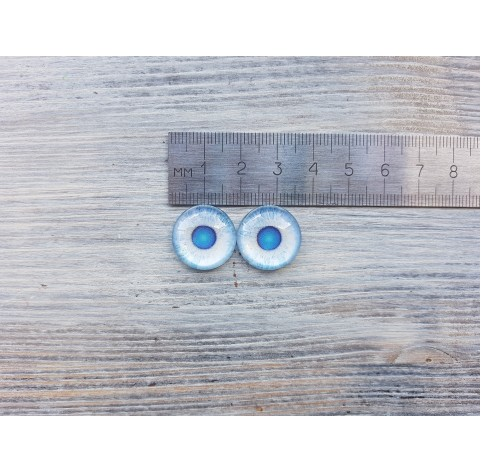 Glass eyes Blue 2, ~ Ø 1.8 cm