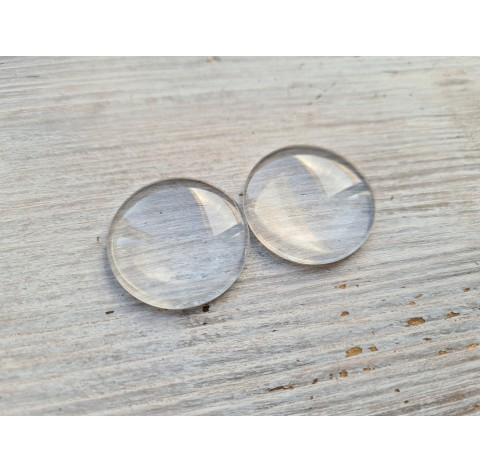 Glass cabochon, 2 pcs., ~ Ø 30 mm