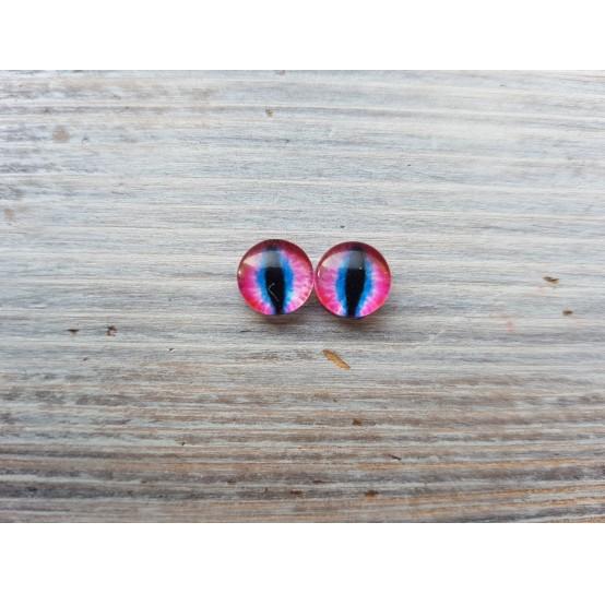 Glass eyes Pink 1, ~ Ø 1,2 cm