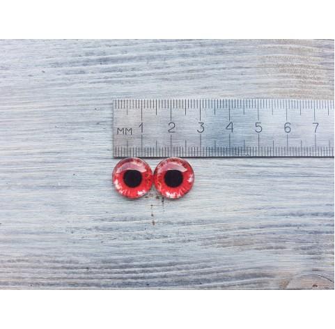 Glass eyes Red 1, ~ Ø 1.4 cm