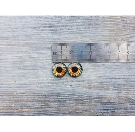 Glass eyes Blue 2, ~ Ø 1.6 cm