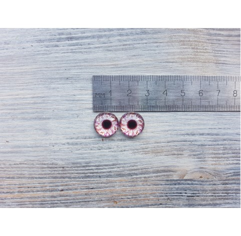 Glass eyes Violet 1, ~ Ø 1.4 cm