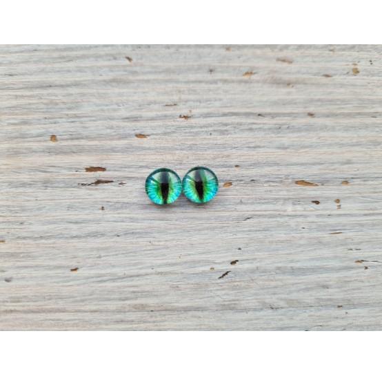 Glass eyes Green 14, ~ Ø 0.8 cm