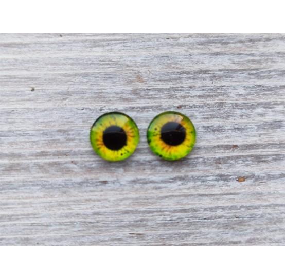 Glass eyes Green 15, ~ Ø 0.8 cm