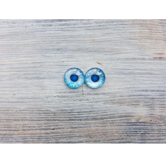 Glass eyes Blue 2, ~ Ø 1.4 cm