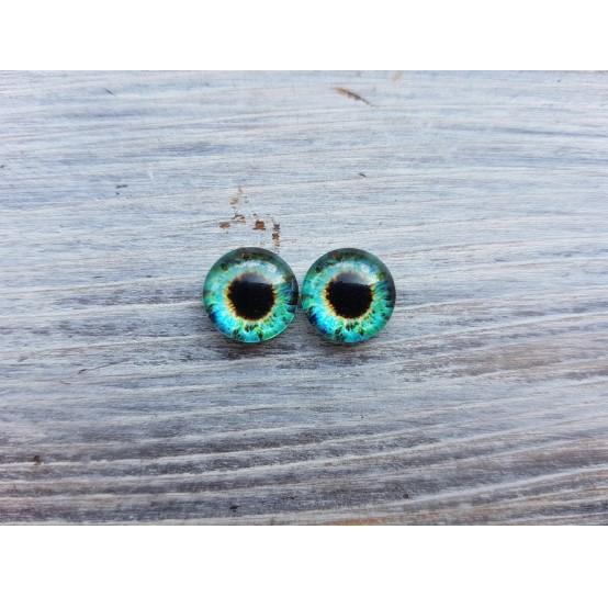 Glass eyes Green 4, ~ Ø 1 cm