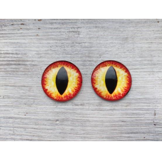 Glass eyes Orange 1, ~ Ø 3 cm