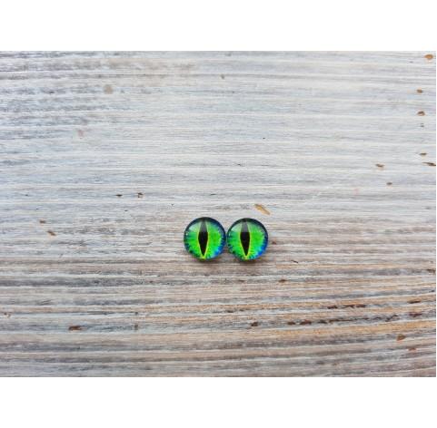 Glass eyes Green 5, ~ Ø 1,2 cm