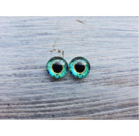 Glass eyes Green 13, ~ Ø 0.8 cm