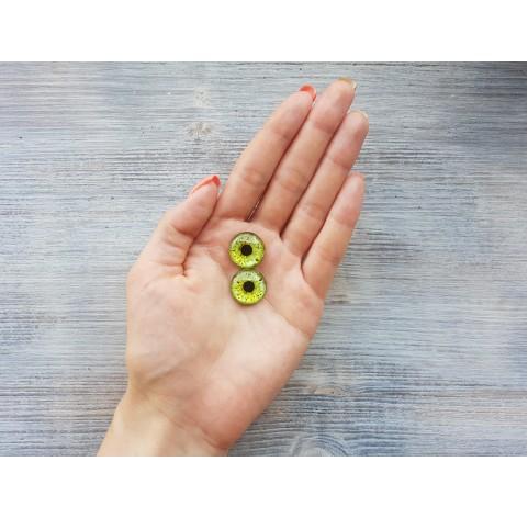 Glass eyes Green 1, ~ Ø 1.8 cm