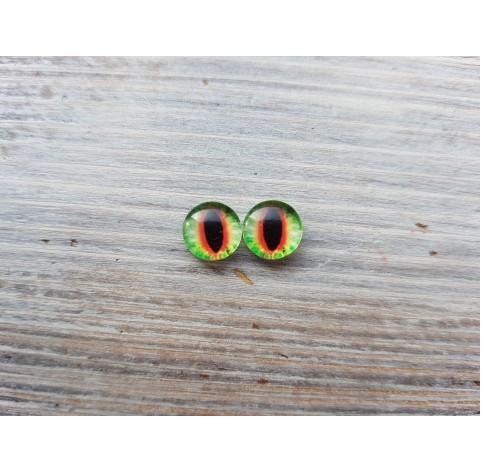 Glass eyes Green 7, ~ Ø 1 cm