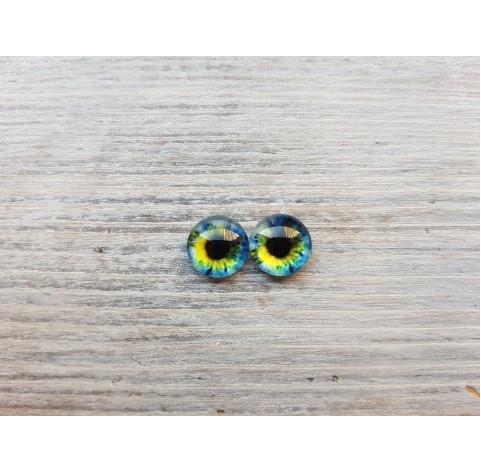 Glass eyes Blue 6, ~ Ø 1 cm