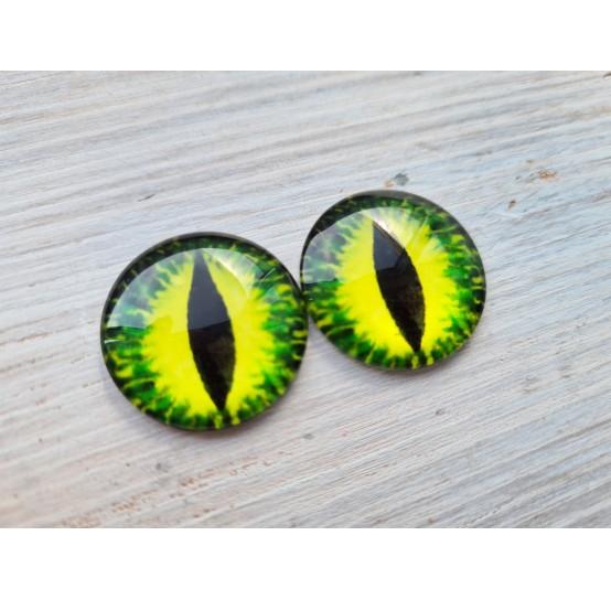 Glass eyes Green 3, ~2,5 cm
