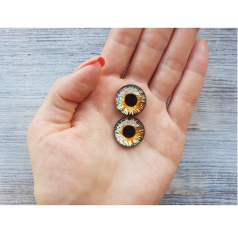 Glass eyes Brown 2, ~ Ø 2 cm