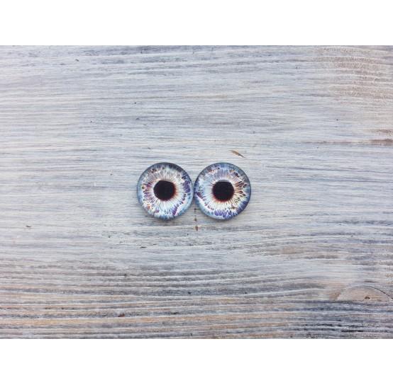 Glass eyes Blue 4, ~ Ø 1.8 cm