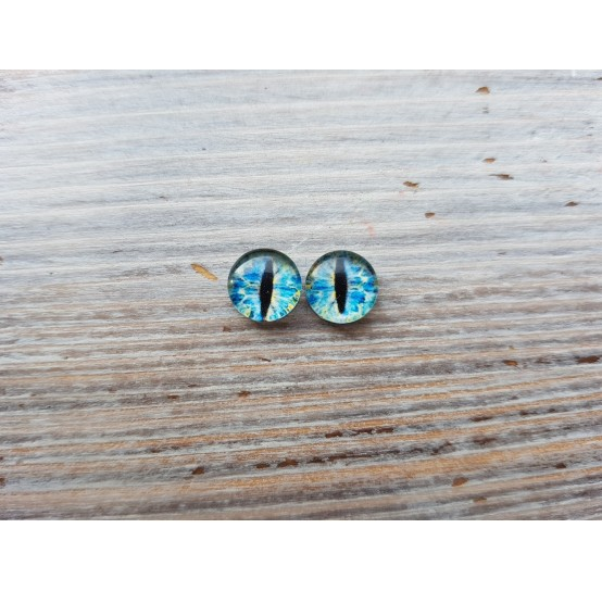 Glass eyes Blue 1, ~ Ø 0.6 cm