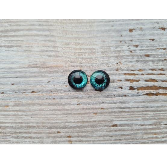 Glass eyes Blue 19, ~ Ø 1 cm