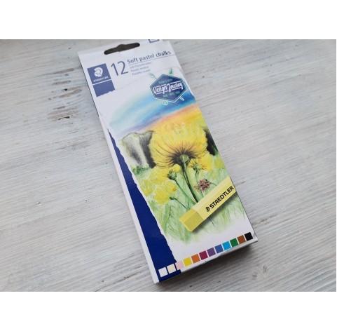 Set of soft pastels chalks, 12 colours, Staedtler, Karat