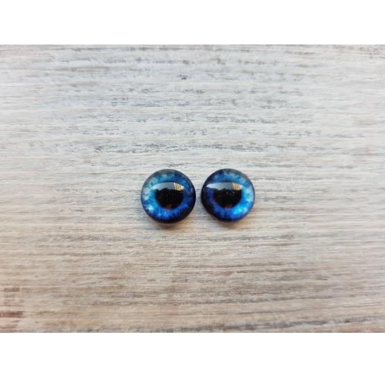 Glass eyes Blue 5, ~ Ø 1 cm