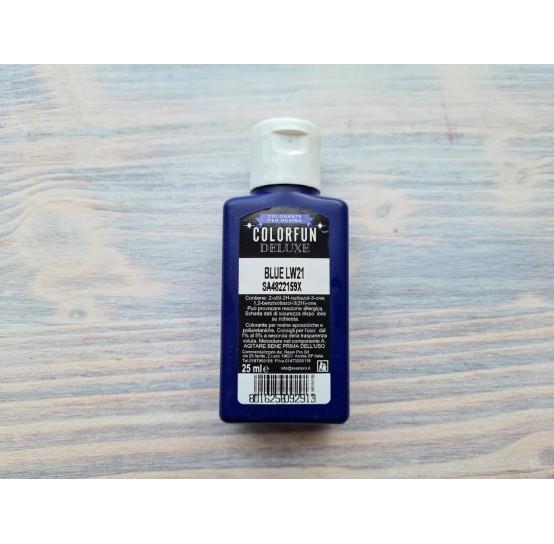 Dye for epoxy resins Colorfun Deluxe, blue, 25 ml