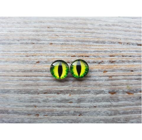 Glass eyes Green 9, ~ Ø 1,2 cm