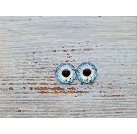 Glass eyes Blue 1, ~ Ø 1.2 cm