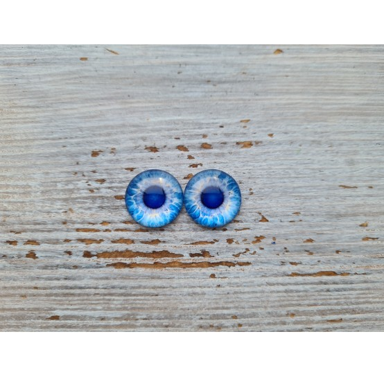 Glass eyes Blue 8, ~ Ø 0.8 cm